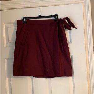 Wrap skirt maroon